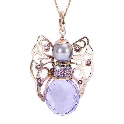 Necklace with Angelo in Swarovski violet