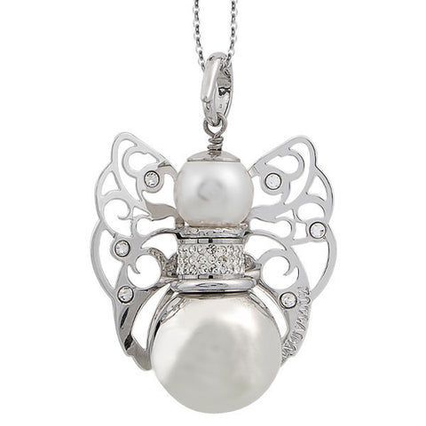 Necklace with sound cherub and Swarovski crystal