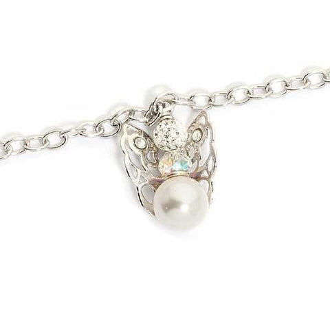 Bracelet with Angelo mini pendant and final pearl