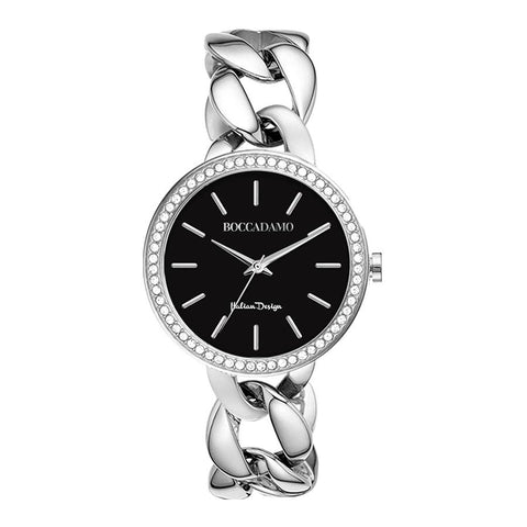 Related product : Wristwatch woman with grumette Bracelet and double ring wire Swarovski