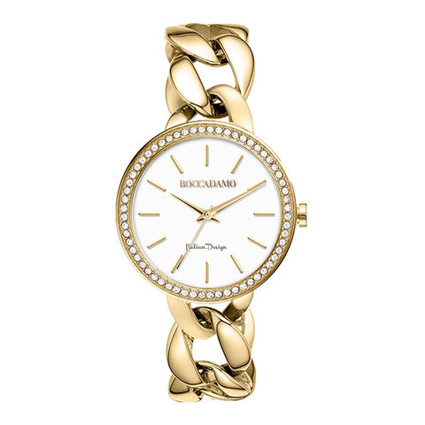 Related product : Wristwatch woman with grumette Bracelet golden and Swarovski