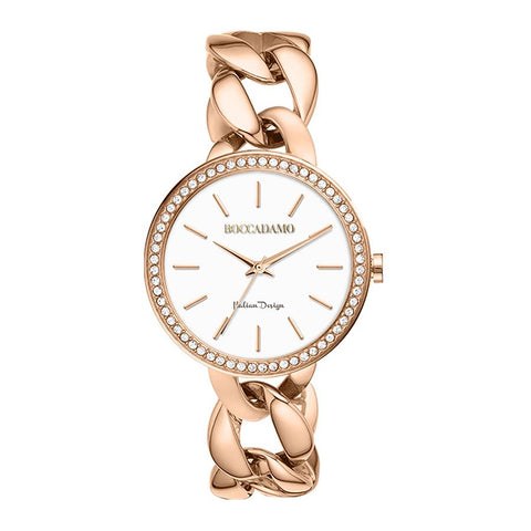 Related product : Wristwatch woman with Bracelet grumette rosato and Swarovski