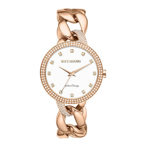 Related product : Wristwatch woman with double ring wire Swarovski and Bracelet grumette rosato