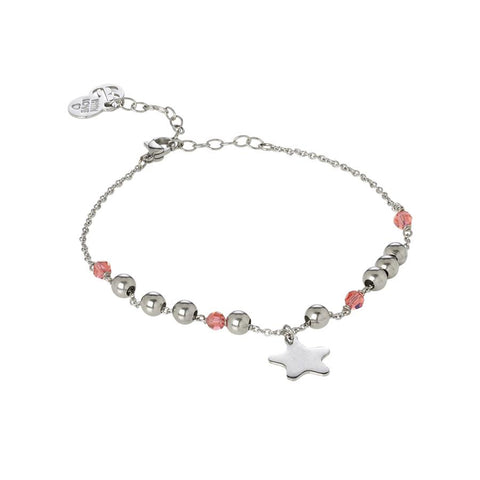 Related product : Ankle brace with Swarovski padparadscha  and charm in the form of a star