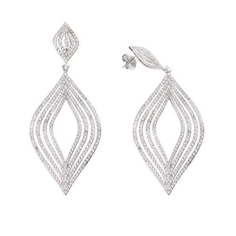Silver earrings with diamonds degradè of zircons
