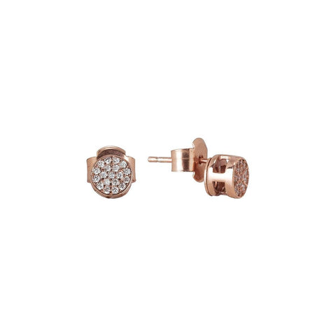 Related product : Earrings plated lobe pink gold with zircons