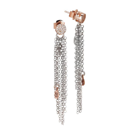 Related product : Earrings Pendant bicolor with zircons