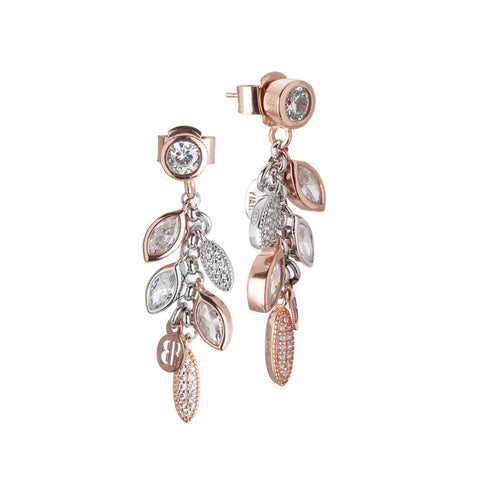 Related product : Cluster earrings bicolor with zircons