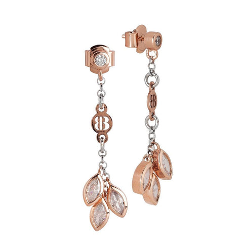 Related product : Earrings Gold plated pink with zircons to shuttles brilliant cut