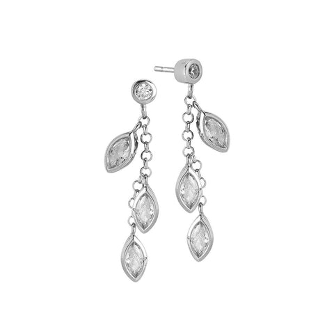 Related product : Earrings Pendant with zircons to shuttles brilliant cut
