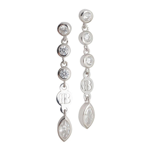 Related product : Earrings with zircons diamond cut pendants