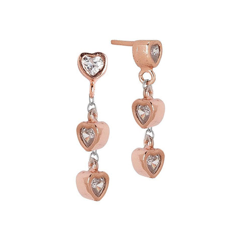 Related product : Earrings Gold plated pink with zircons to heart