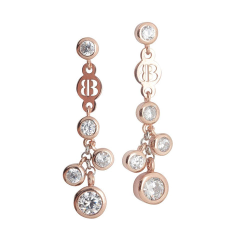 Related product : Earrings Gold plated pink bunch of zircons diamond cut