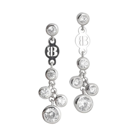Related product : Cluster earrings of zircons diamond cut