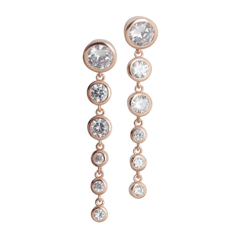 Related product : Earrings Gold plated pink with zircons degradè Pendants