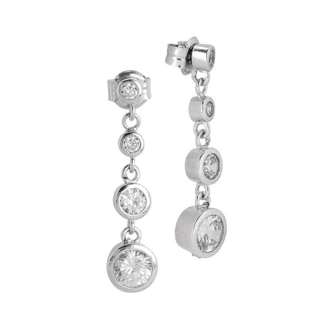 Related product : Earrings with pendent zircons degradè