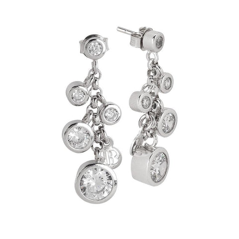 Related product : Cluster earrings with zircons diamond cut