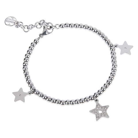 Bracelet bead with charm in the form of a star