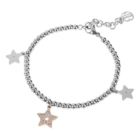 Bracelet bead bicolor with charm in the form of a star