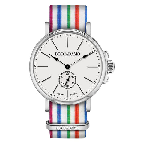 Related product : Clock with sartorial strap to wide rows multicolor