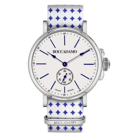 Related product : Clock with sartorial strap to blue diamonds