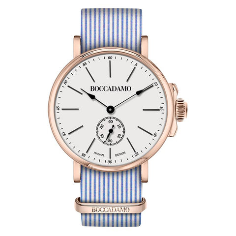 Related product : Clock with sartorial strap to narrow rows blue and pink buckle