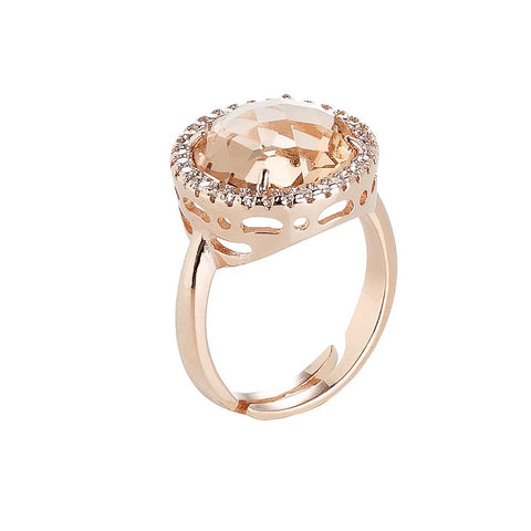 Related product : Ring with crystal peach