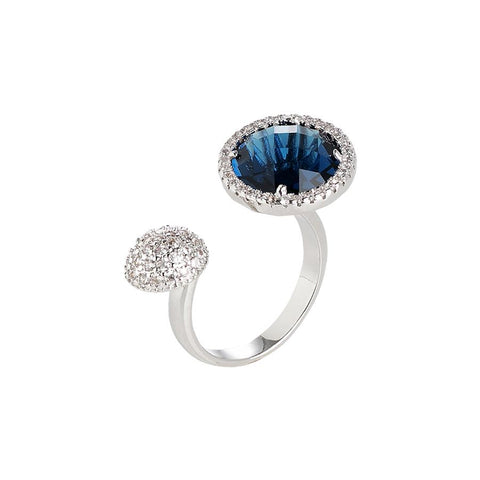Related product : Open Ring with zircons and crystal Montana