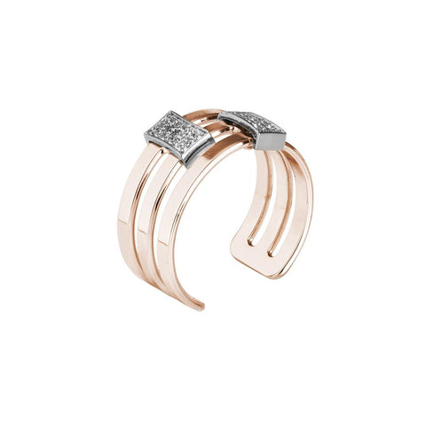 Pink ring band with zircons