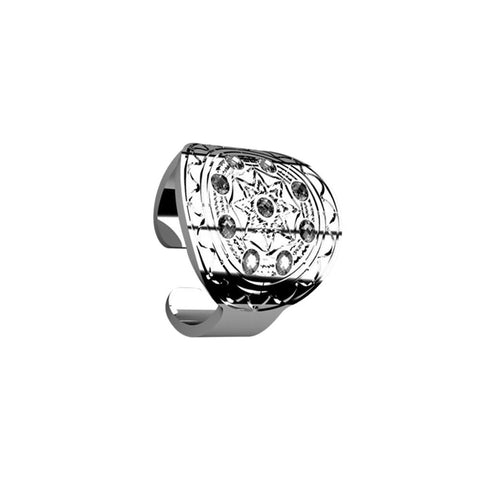 Related product : Ring with flat base from Etruscan processing and Swarovski
