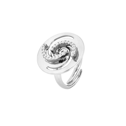 Related product : Ring with decorum vortex and zircons