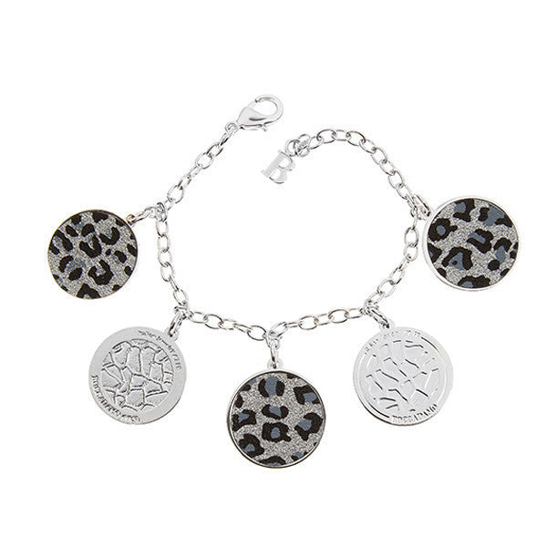 Bracelet with charms leopards