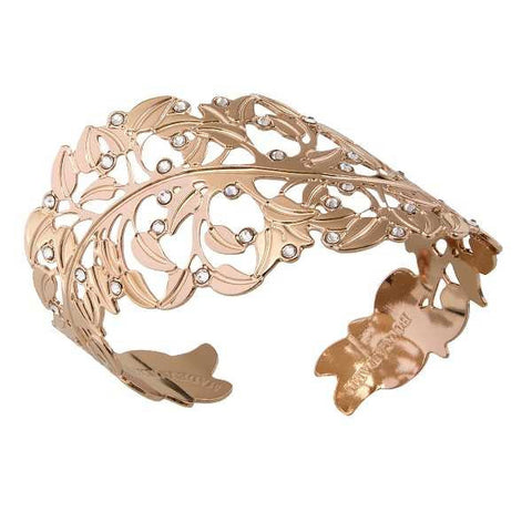 Rose Bracelet with a profile in the leaf and Swarovski