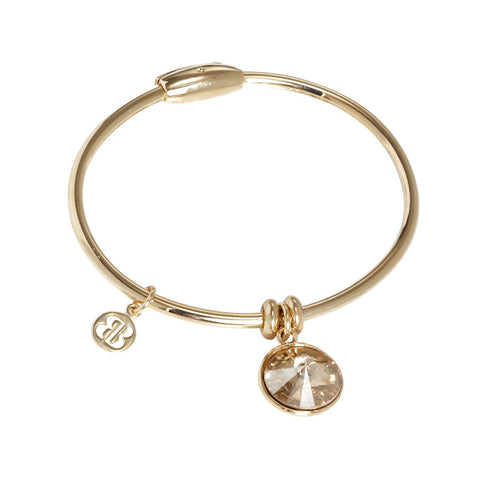 Bracelet with charm in Swarovski Crystal Golden