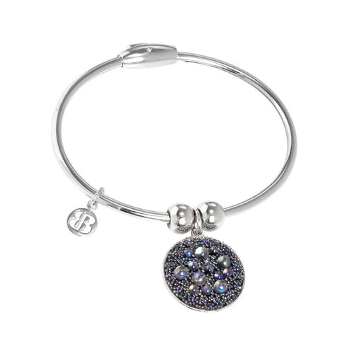 Bracelet with charm composed of galuchat mat paradise shine