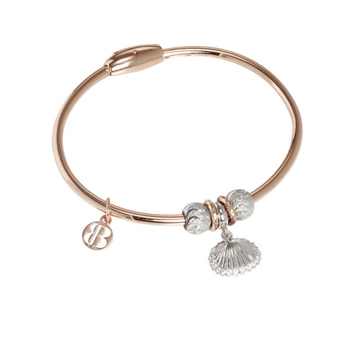 Plated Bracelet pink gold with charm in the form of a shell