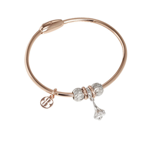 Plated Bracelet pink gold with charm in the shape of a turritella