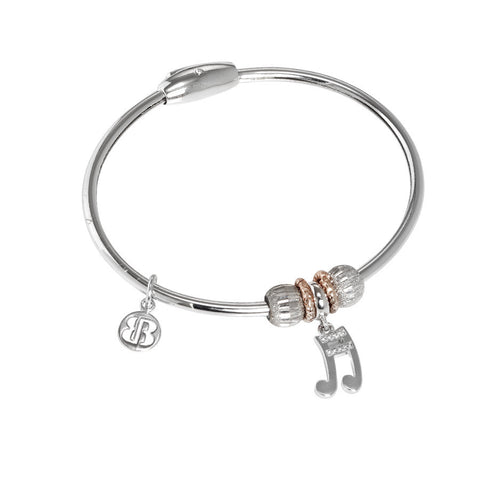 Bracelet with charm in the shape of a musical note