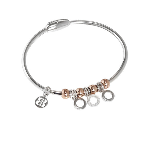 Bracelet with charm in the shape of circles