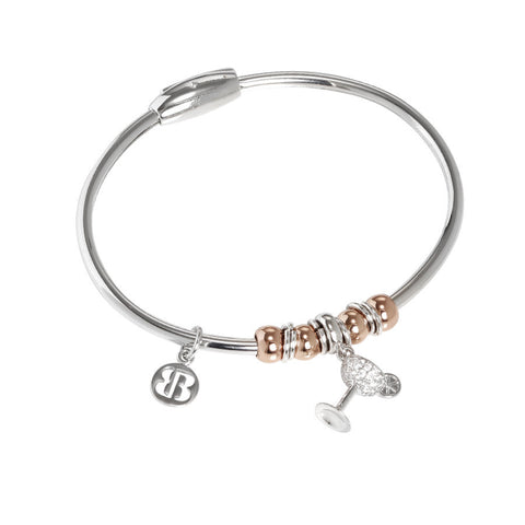 Bracelet with charm in the shape of a cocktail glass