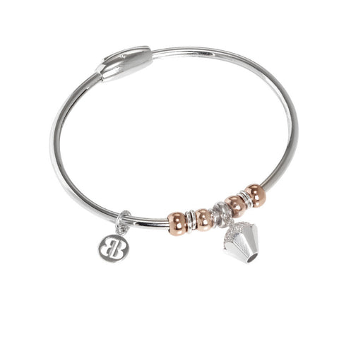 Bracelet with charm in the shape of a cupcake