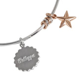 "Bracelet rodiatos with Star Gold plated pink pendant and ""bellezza"""