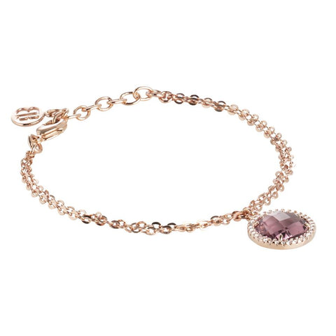 Related product : Bracelet with crystal amethyst and zircons