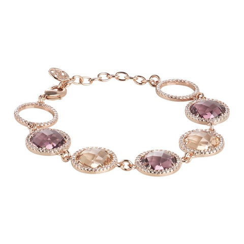 Related product : Bracelet with crystals peach, amethyst and zircons