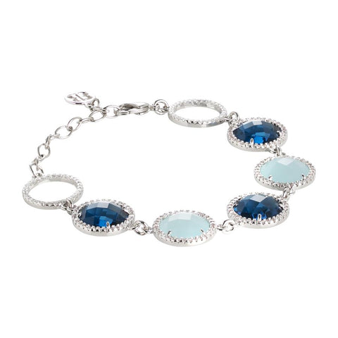 Related product : Bracelet with crystals Montana and aquamilk and zircons