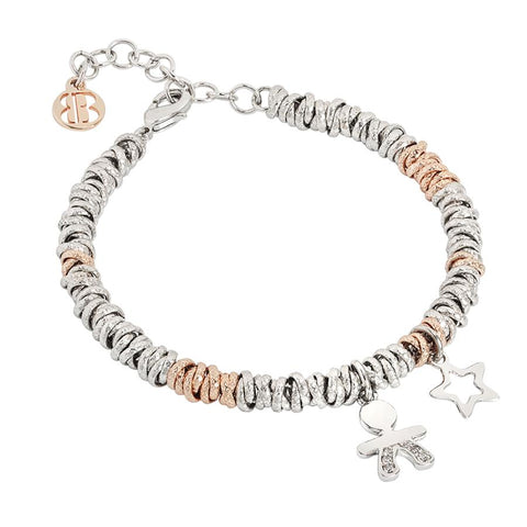 Bracelet bicolor with baby zirconate and Stella