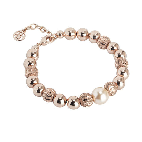 Bracelet with pearl Swarovski peach