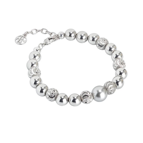 Bracelet with Swarovski pearl light gray