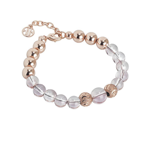 Bracelet rosato with Swarovski beads antique pink