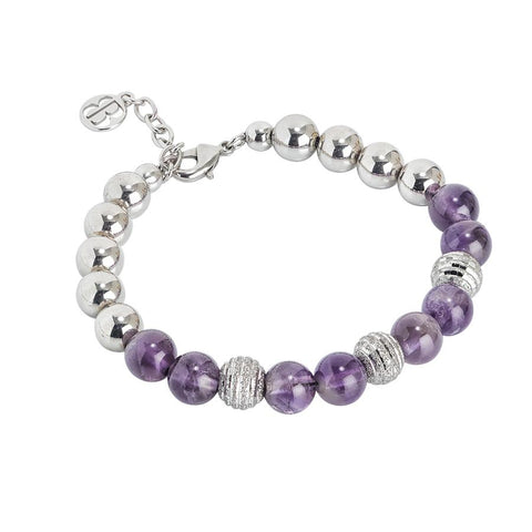 Bracelet rodiatos with amethyst